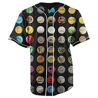 Ecstasy Black Button Up Baseball Jersey