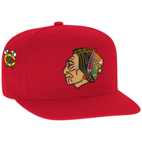 Mitchell & Ness NHL Champions Snapback 1960-61 Stanley Cup Chicago Blackhawks In Red