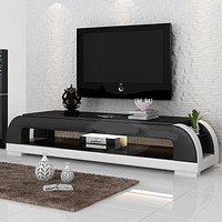 Attractive Leather TV Stand with Storage