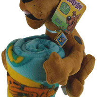 Scooby Doo Throw & Pillow Set Hugger Plush Blanket Soft Stuffed Animal Dog NEW