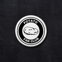 Potato fan club button