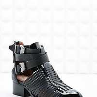 Jeffrey Campbell Cut-Out Patent Toe Boots in Black - Urban Outfitters