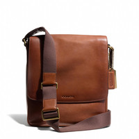 BLEECKER MAP BAG IN LEATHER