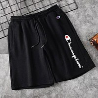 Champion Trending Men Casual Sports Running Shorts Black
