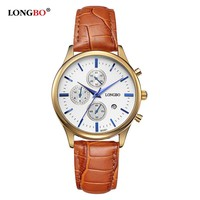 Quartz Watch Casual Leather Watches Female Watch with Date Calendar Waterproof