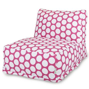 Hot Pink Large Polka Dot Bean Bag Chair Lounger