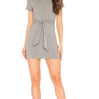 superdown Jacinda Tie Shirt Dress in Heather Grey | REVOLVE