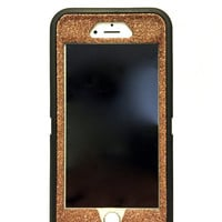 iPhone 6 (4.7 inch) OtterBox Defender Series Case Glitter Cute Sparkly Bling Defender Series Custom Case  black / sunstone