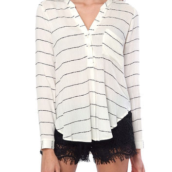 Brand New Day Stripe Shirt - Ivory