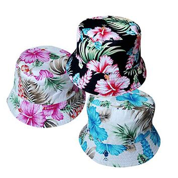 Hawaiian Flower Bucket Hat