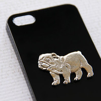 Bulldog iPhone 5 and 5s Silver and Black Hard Shell Plastic Smart Phone Cover iPhone 6 Case