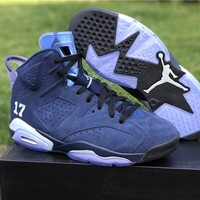 Air Jordan 6 UNC Championship PE Navy Basketball Shoe