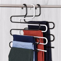 Trousers rack Organizer S Shape Trousers Holders Towels Clothes Apparel Hanger Clothes Hanger Rack Pants Hanger Space Saving