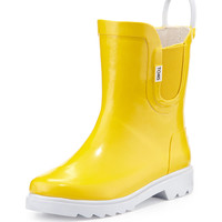 Rubber Rain Boot, Yellow, Youth - TOMS