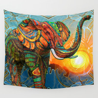 Elephant's Dream Wall Tapestry by Waelad Akadan