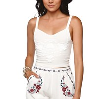 Kendall & Kylie Embellished Tap Shorts - Womens Short - White -