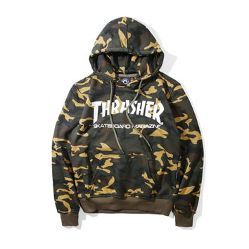 Hoodies Winter Camouflage Couple Men's Fashion Jacket [9070592067]