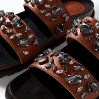 LEATHER BIO WITH JEWELS