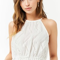 Chevron Eyelet Top