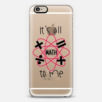 IT'S ALL MATH TO ME - Red Black Cool Modern Typography Quote Font Geometric Shapes Mathematics Geometry Design Chic High School Transparent Art iPhone 6 case by Ebi Emporium | Casetify
