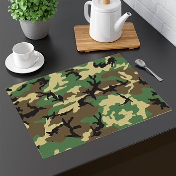65 MCMLXV Military Camouflage Print Four-piece Placemats