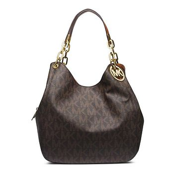 Michael Michael Medium Leather Tote Studded Kors Selma