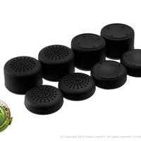 AceShot Thumb Grips (8pc) for Xbox One by Foamy Lizard ® Sweat Free 100% Silicone Precision Platform Raised Anti-slip Rubber Analog Stick Grips For Xbox One Controller (8 grips per order) BLACK