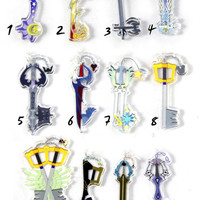 Kingdom Hearts Keyblade Acrylic Charms
