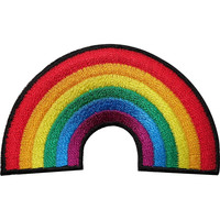 """Rainbow LGBT Gay Pride Sew Iron On Embroidered Patch 3""""/7.5"""