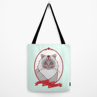Ferocious • Regal • Fluffy Tote Bag by TinyBee | Society6