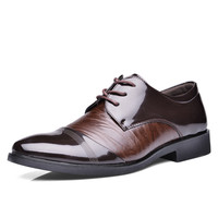 England Style Pointed Toe Leather Casual Men Height Increase Shoes = 6450316227