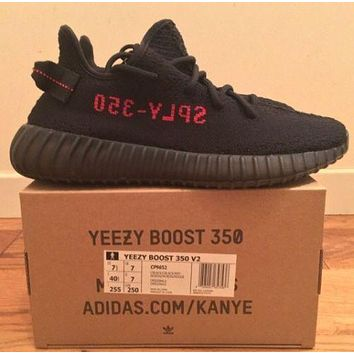Yeezy 350 Boost V2 BRED Core Black/Red SIZE 11.5