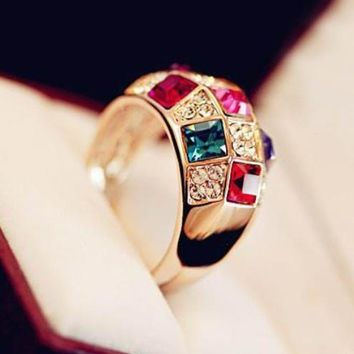 Stylish Jewelry Gift New Arrival Shiny Style Crystal Classics Ring [6586075975]