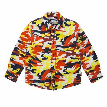 Junior Gaultier Bebe - Baby Boy Camouflage Multicolor Shirt