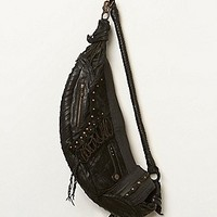 QUIMERAspecies Womens Midnight Leather Sling - Black, One Size