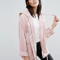 ASOS Hooded Soft Wash Jacket at asos.com