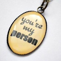 Grey's Anatomy: You're My Person pendant necklace