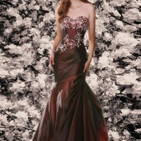 Disney Forever Enchanted 35525 Wine Mermaid Dress