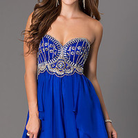 Short Sweetheart Homecoming Dress by Dave and Johnny
