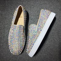 Cl Christian Louboutin Roller Style #2086 Sneakers Fashion Shoes-1