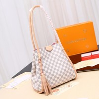 Kuyou Gb29810 Lv Louis Vuitton N44027 Damier Azur Canvas Handbags Shoulder Bags & Totes Propriano