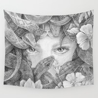 Fear of Snake Wall Tapestry by sherwil