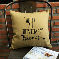 "Harry Potter ""After All This Time? Always"" Pillow Cover always throw pillow cover severus snape cotton canvas pillow cover"