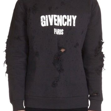Givenchy Distressed Hoodie Receipt XL