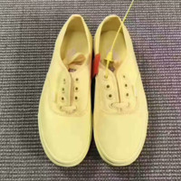 """Vans""Old Skool Lemon Yellow Casual Canvas Shoes Black G-CSXY"