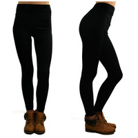 In For The Night Black Fleece Leggings