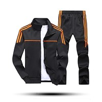 New Men'S Set Spring Autumn Man Sportswear 2 Piece Sets Sports Suit Jacket+Pant Sweatsuit Male Tracksuit