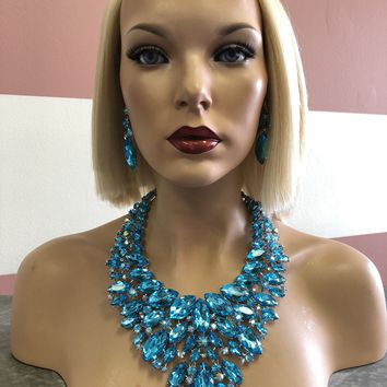Blue Necklace Set | Windsor Palace Queen's Jewelry Collection | J1