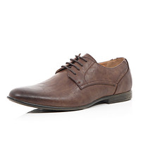 River Island MensBrown round toe formal panel shoes