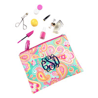 Summer Paisley Zip Pouch
